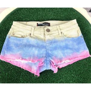 BDG. Super Shortie Denim Tie Dye Short Shorts